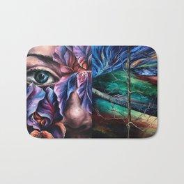 Painting Collage Bath Mat