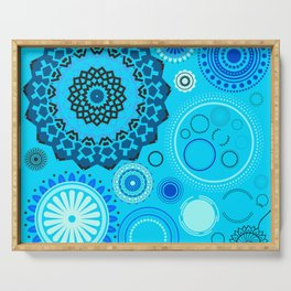 Blue Times Serving Tray