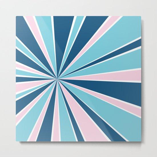 Starburst Pink and Blue Metal Print