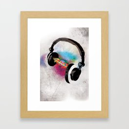 feeling sound Framed Art Print