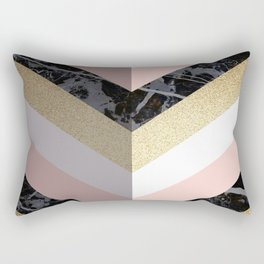 Chevron Pattern 1. Marble and Glitter #decor #buyart Rectangular Pillow