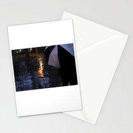 Rainy Days with an Umbrella Stationery Cards