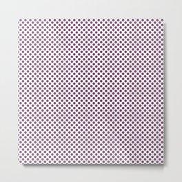 Wood Violet Polka Dots Metal Print