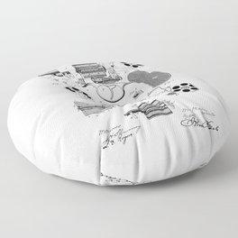 1881 Revolver Patent  Floor Pillow