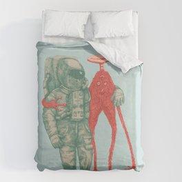 Alien & Astronaut Duvet Cover