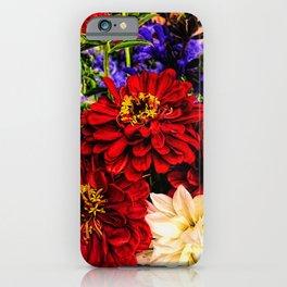 Red Flower Bouquet iPhone Case