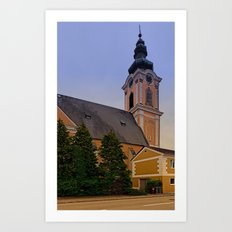 The village church of Scharten II | architectural photography Art Print