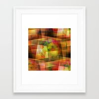 geo Framed Art Prints featuring Geo by Christine baessler