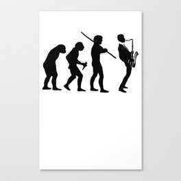 EVOLUTION OF JAZZ Canvas Print
