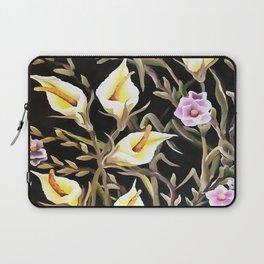Arum Lily Artistic Floral Design Laptop Sleeve
