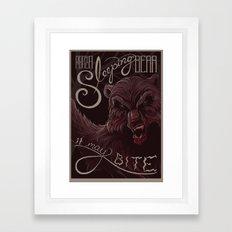 Don't poke the bear Framed Art Print