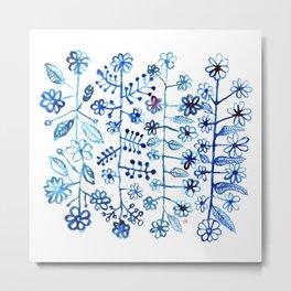 Blue pattern Metal Print