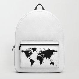 Black Ink World Map Backpack