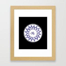 Ohm Flower Framed Art Print