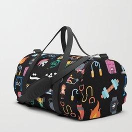 Athlete Icons Arabic Black Duffle Bag