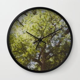 White Oak Instant Photo Wall Clock