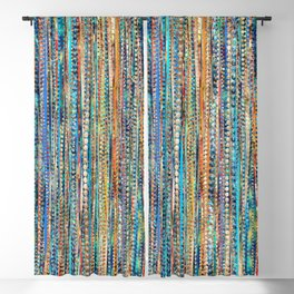 Stripes and Beads Blackout Curtain
