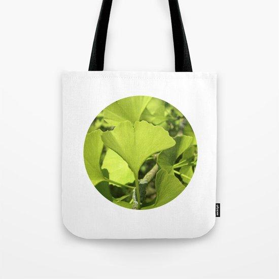 green ginkgo leaf VII Tote Bag