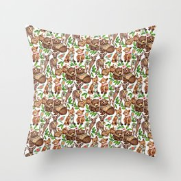 Snow White's Forest Friends  Throw Pillow