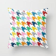 Rainbow Dogtooth Throw Pillow