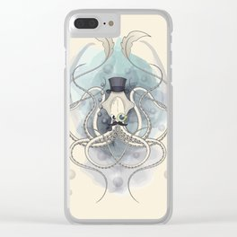 Classy Victorian Squid Clear iPhone Case