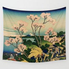 """Hokusai (1760–1849) """"Goten-yama-hill, Shinagawa on the Tōkaidō"""" Wall Tapestry"""