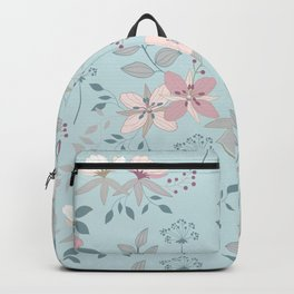 Flower Mix Shabby Chic Backpack