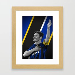 Javier Zanetti - Inter Milan Framed Art Print