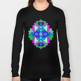 Colorful Henna Mandala Long Sleeve T-shirt