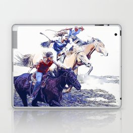 Horse Racing Cowgirls Laptop & iPad Skin