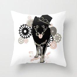 Steam Punk Wolf Throw Pillow
