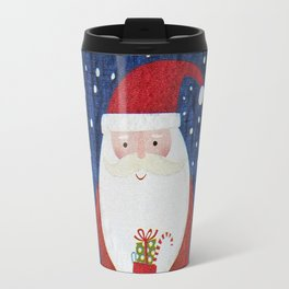 Santa with Stocking Travel Mug