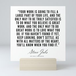 22  | Steve Jobs Quotes | 190720 Mini Art Print