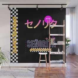 Señorita Retro Japanese Art Wall Mural