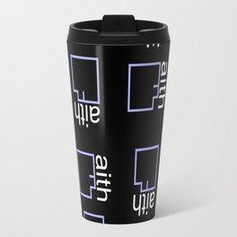 By Faith (purple) Travel Mug