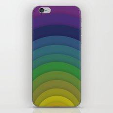 Rainbow circles iPhone & iPod Skin