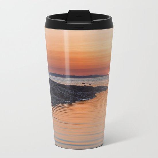 Plum Cove Sunset Metal Travel Mug