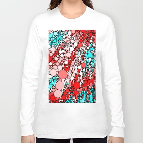 Bubble shower,red,aqua Long Sleeve T-shirt