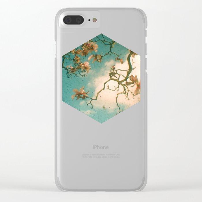 Magnolia Falls Clear iPhone Case