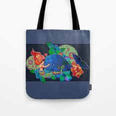 The Mermaid and the Whale Tote Bag