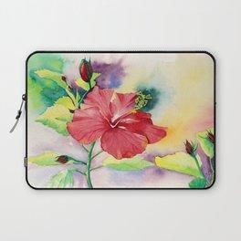 Red Hibiscus Laptop Sleeve