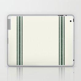 Green stripes on Cream Grainsack (wider stripes) Laptop & iPad Skin