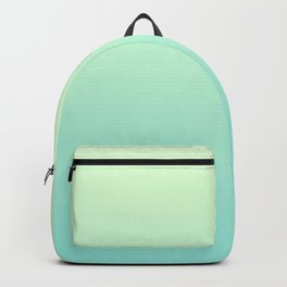 FAERIE GREEN - Minimal Plain Soft Mood Color Blend Prints Backpack