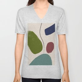 abstract 020519 Unisex V-Neck