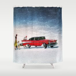 The Old Time Shower Curtain