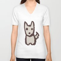 schnauzer V-neck T-shirts featuring Schnauzer by Alayna's Stuff