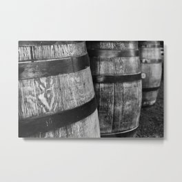 Wine Barrels in San Luis Obispo Metal Print