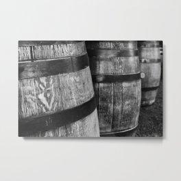Wine Barrels in San Luis Obispo Metal Print