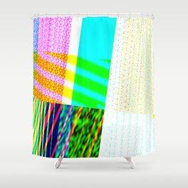 GLITCH_0014_1 Shower Curtain