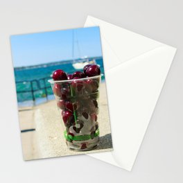 National Cherry Festival - Traverse City, Michigan - Local Sweet Cherries In A Cup Stationery Cards